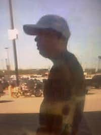 Corsicana police released this image of the suspect.