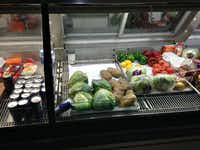 The cooler at the Brotherhood Food Mart next to the meat counter (Wilonsky)