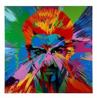'Beautiful Beautiful George Michael Love Painting' by British artist Damien Hirst will be auctioned off at the 2017 MTV Re:Define event, held at Dallas Contemporary on March 24, 2017. (Courtesy of Goss-Michael Foundation)