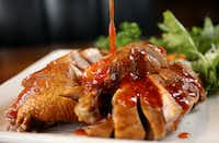 Taiwanese smoked duck at Yama Izakaya and Sushi. The Plano restaurant features a Taiwanese chef and offers an entire Taiwanese menu. (Rose Baca/Staff Photographer)