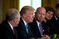 A number of conservatives have sharply criticized the health care bill unveiled by Brady (third from left) and his fellow House Republicans. (Doug Mills/The New York Times)