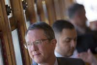 <p>DART and its president, Gary Thomas, have two planned projects, a platform lengthening effort and a downtown subway line, that are now in the administration's cross hairs. (File Photo/The Dallas Morning News)</p>(Staff Photographer)