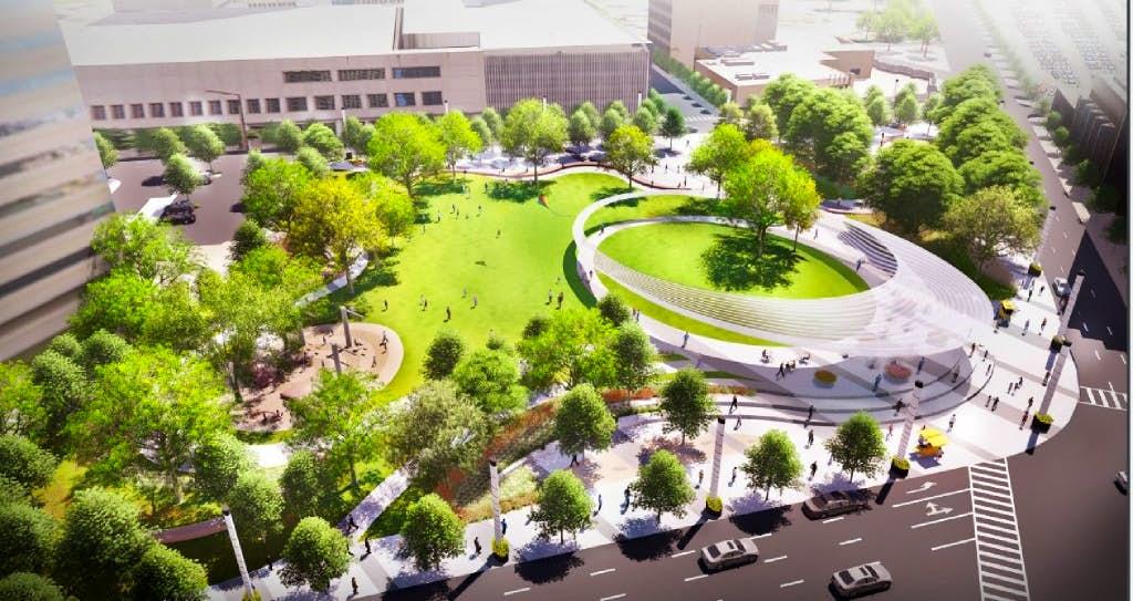 Dallas set to un-pave a parking lot, and put a park downtown with ...