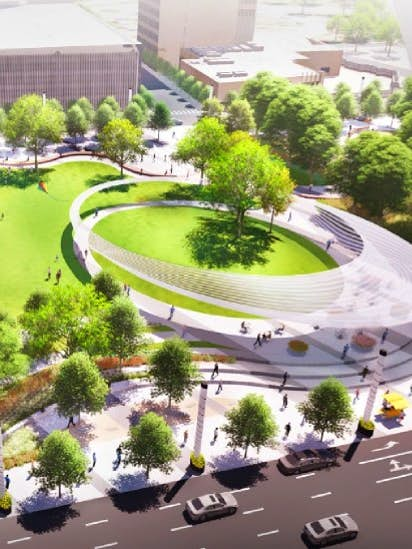 Dallas Set To Un Pave A Parking Lot And Put A Park Downtown With