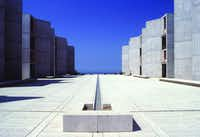 Salk Institute in La Jolla, California, Louis Kahn, 1959 to 1965, The Architectural Archives, University of Pennsylvania, photo: John Nicolais(Kimbell Art Museum)