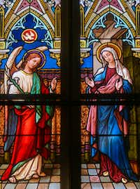 Prague, Czech Republic - April 5, 2016: Stained Glass in the Basilica of Vysehrad in Prague, Czech Republic, depicting the Annunciation(Jorisvo/Getty Images)