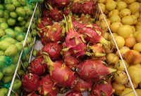Dragon fruit at Jusgo Supermarket in Plano  (Rose Baca/Staff Photogorapher)(Staff Photographer)