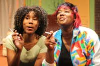 "<p></p><p>Kimberly Nicole and Takenya Banks play Iris and Jasmine in <em style=""font-size: 1em; background-color: transparent;"">Rain</em><span style=""font-size: 1em; background-color: transparent;"">, the second of the one-act plays in </span><em style=""font-size: 1em; background-color: transparent;"">The Trinity River Plays </em><span style=""font-size: 1em; background-color: transparent;""> by Regina Taylor, presented by Soul Rep Theatre Company at South Dallas Cultural Center through April 2.</span></p><p></p>((Anyika McMillan-Herod))"