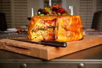 The timpano, in all its glory! (Tom Fox/Staff Photographer)(Staff Photographer)