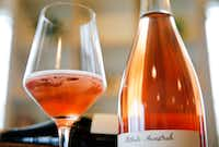 A glass of Les Capriades Piege a Filles Rosé at Bar and Garden (Tom Fox/The Dallas Morning News)(Staff Photographer)