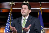 House Speaker Paul Ryan, R-Wis., announces that he is pulling the troubled Republican health care overhaul bill off the House floor on Friday. (J. Scott Applewhite/The Associated Press)