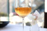 2006 Movia Puro Rose is featured on the wine list at Stephan Pyles Flora Street Cafe at Hall Arts for $120 per bottle. (Rose Baca/The Dallas Morning News)