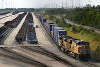 Union Pacific's intermodal terminal is part of a larger area known as the southern Dallas County inland port. (File Photo/Staff)