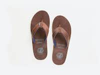 """<p><span style=""""font-size: 1em; background-color: transparent;"""">The Hari Mari and Nokona flip-flops will be sold online and in the ball glove maker's factory store</span></p>(Courtesy of Hari Mari)"""