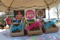 Sweet Lucy's Pies is another tent at Clearfork Farmers Market in Fort Worth. The little girl really is Lucy, and her mom, Lindsey Lawling, is the owner and baker.((Kim Pierce))