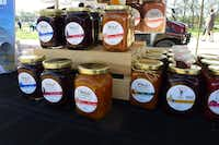 These are Bolo Patisserie  mixology-inspired boozy jams.  Jams made with fresh fruit and premium liquor.((Kim Pierce))