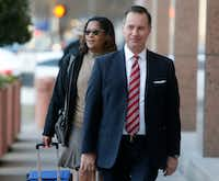 Dapheny Fain arrives at the federal courthouse in Dallas for the John Wiley Price bribery trial. (Rose Bacca/The Dallas Morning News)