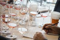 Judges taste wines at the TexSom International Wine Competition in Irving.((Courtney Perry))