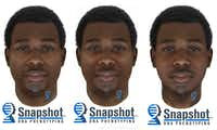 <p>From left: A composite photo shows the suspect at about 35 years old with 32.6 body mass index, at about 25 years old with 32.6 BMI, and at about 25 years old with 22 BMI.<br></p><p></p>