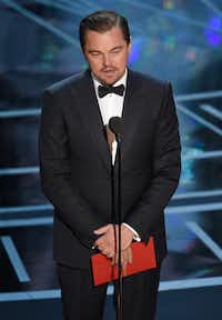 Leonardo DiCaprio presents the award for best actress in a leading role at the Oscars in February.  In Texas, there's nothing to stop anyone from naming a child Leonardo DiCaprio Jr. ((Chris Pizzello/Invision))