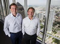 Tommy Hicks, left, and Mack Hicks are full partners in Hicks Holdings, the family investment firm started by their father, Tom Hicks.(Ashley Landis/Staff Photographer)
