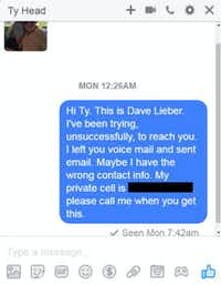 We blurred the person with Head to protect their privacy. We also redacted a phone number.
