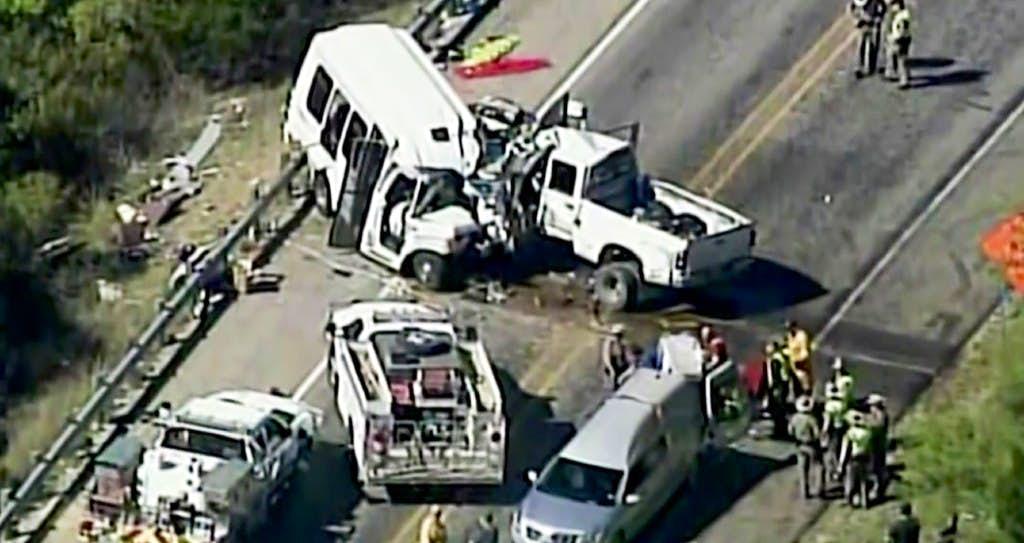 Watch: Video shows pickup drifting before it hit church bus, killing ...