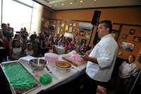 Buddy Valastro of <i>Cake Boss</i> fame interacted with fans during Baking With the Boss at the Venetian during a recent Vegas Uncork'd by Bon Appetit.(David Becker)