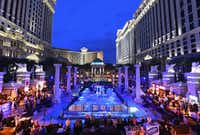 The Grand Tasting at Caesars Palace during Vegas Uncork'd by Bon Appetit features more than 100 food and wine stations.(Ethan Miller/Getty Images)