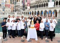 You'll have a chance for some face time with world-famous chefs during Vegas Uncork'd by Bon Appetit. Some of the chefs celebrated during the 2016 event.(Ethan Miller/Getty Images)
