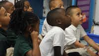 Students react to their teacher's instructions in a classroom at Harllee Early Childhood Center on Tuesday March 28, 2017.(<p></p><p>Dom DiFurio/Staff</p><p></p>)