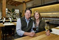 Randy DeWitt, owner of Sixty Vines restaurant and his wife Michele DeWitt, at the restaurant in Plano, March 10, 2017. Ben Torres/Special Contributor(Special Contributor)