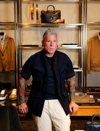 181aea0057c Forty Five Ten men s fashion director Nick Wooster photographed at Forty  Five Ten on Main in