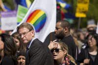 Tony Perkins, President of the Family Research Council, waits to speak near the Supreme Court, April 28, 2015 in Washington, D.C., as the Supreme Court heard arguments concerning whether same-sex marriage is a constitutional right.(Drew Angerer/Getty Images)
