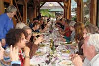 Dinner at Red Rabbit Farm on Orcas Island (San Juan Islands Visitors Bureau)
