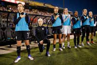 U.S. soccer player Megan Rapinoe says she'll stand during the national anthem in Frisco on Thursday. (2016 File Photo/The Associated Press)