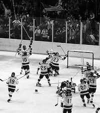 "The U.S. hockey team upset the powerhouse Soviet Union 4-3 during 1980's ""Miracle on Ice."" (File Photo/The Associated Press)"