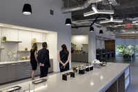 A break room inside the new offices of McKesson in Irving.(Ben Torres/Special Contributor)