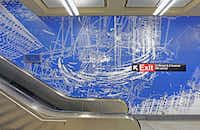 """Blueprint for a Landscape,"" by Sarah Size at 96th Street in NYC((Metropolitan Transit Authority))"