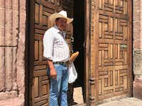 <p>Samuel Bustamante, a native of Guanajuato, worries about the treatment of his son and other Mexicans living in the  U.S. (Angela Kocherga/Staff Photographer)</p>