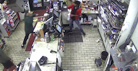 The suspect struck one cashier, then threw bananas at the other.<br>(Santa Ana Police Department<br>)