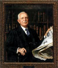 A 1939 portrait of G.B. Dealey by Douglas Chandor hangs in the offices of The Dallas Morning News.
