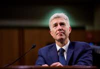 Judge Neil Gorsuch testified on the third day of his confirmation hearing before the Senate Judiciary Committee on Capitol Hill, in Washington, March 22, 2017. (Eric Thayer/The New York Times)