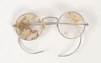 Bonnie Parker's glasses, taken off her the day she and Clyde Barrow were ambushed by lawmen from Dallas and Louisiana in May 1934, are to be auctioned. (RR Auction)