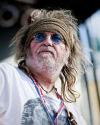 Ray Wylie Hubbard performs on the outdoor stage during Willie Nelson's Fourth of July Picnic at Billy Bob's Texas in Fort Worth. (Jeff Lautenberger/Staff Photographer)
