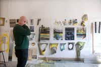 Artist John Pomara with work ideas. Photographed in his studio in Dallas on March 14, 2017. (Nan Coulter/Special Contributor)