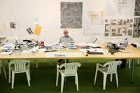 Landscape architect Peter Walker, photographed at his office in Berkeley, California for The Dallas Morning News. (Andy Jacobsohn/Staff Photographer)