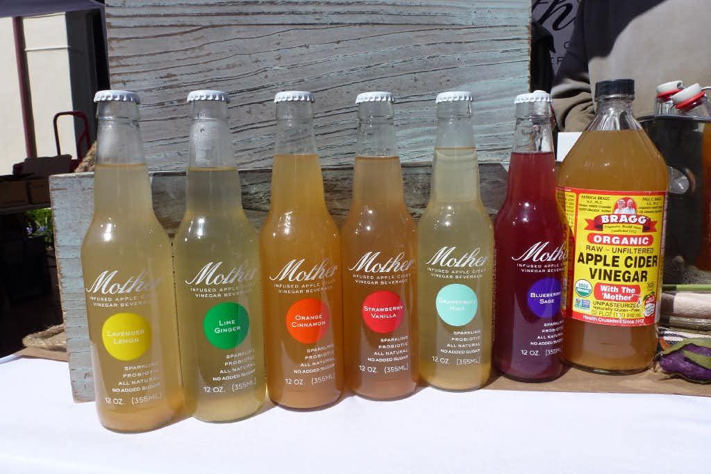 Mother's infused apple cider vinegar beverages at Highland Park Village Local Artisan Market.(Kim Pierce)