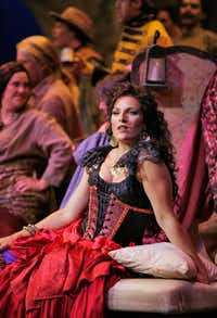 "Audrey Babcock as the gypsy Carmen in Utah Opera Festivalâ€'s production of Bizet's <i>Carmen</i>.  Babcock will star  in the Fort Worth Opera's production. (<p><span style=""font-size: 1em; background-color: transparent;"">Cory Weaver</span><br></p><p></p>)"