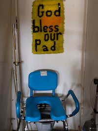 """God Bless Our Pad""((Photo by Norm Diamond))"
